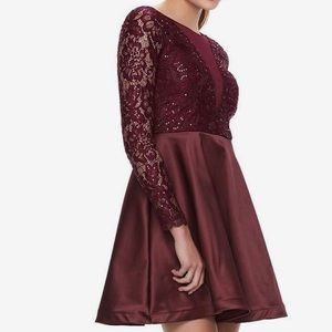 My Michelle dress Beautiful Malbec Red color